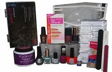 385pc False Nails & Varnish Set inc V-Tips OPI Revlon Ciate Sally Hansen Fill-in