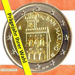 Kursmünzen San Marino: 2 Euro Münze 20XX Palazzo Palast Rathaus zwei € Kursmünze