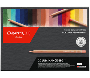 Caran d'Ache Luminance Portrait Colour Pencils Artist 20 Set Permanent 6901 920