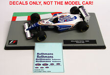 DECALS Damon Hill 1994 Williams FW16 ROTHMANS 1:43 Formula 1 Car Collections