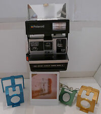 Polaroid 600 Dine Model IV Close-Up Instant Film Camera +3 Lenses & Instructions