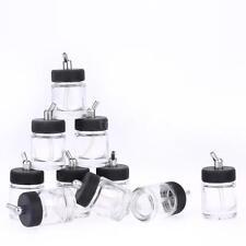 10X Airbrush Dual Action Air Brush Glass Bottle Jar Standard Suction Lid 22c