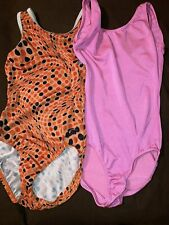 lot of 2 child leotards child large GK brand & Cici's Creations see descriptions