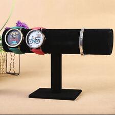 Schmuckständer für Uhren Armband Ketten Schmuckbüste Schwarz Samt dB