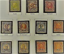 "U.S. SERIES OF1929 ""NEBR"" Overprint ISSUES 1c to 10c Scott #669-6779 WYSIWYG Lot"
