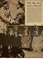 Big Four Leaders Meet in Munich, 1938, Book Illustration, 1938
