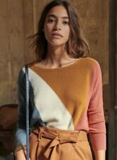 Sezane Matthias Jumper Knit Color block Sweater