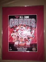 CINCINNATI REDS ALL TIME GREATS MLB HOLOGRAM 8x10 WITH RED MATTE-READY TO FRAME