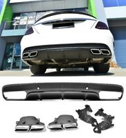 AMG C63 Style Bumper Diffuser & Exhaust Tips for Mercedes-Benz W205 S205 #18