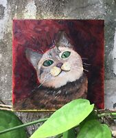 Cutie Cat paintings on canvas