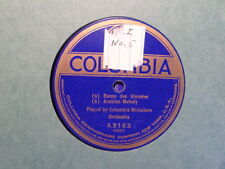 COLUMBIA 78 RECORD/MINIATURE ORCHESTRA/CHINESE MARCH/JAPANESE DANCE/ARABIAN MELO