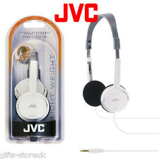 JVC HA-L50 WHITE Foldable Lightweight Stylish Stereo Headphones  Brand New
