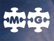 MG JIGSAW Novelty Vinyl Car/Window/Bumper Stickers/Decals - Various Colours