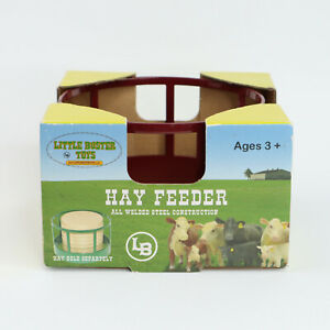 1/16 Little Buster Toys Red Welded Steel Round Bale Hay Feeder