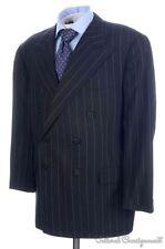RALPH LAUREN PURPLE LABEL Black Striped Cashmere Jacket Pants SUIT Mens - 46 R