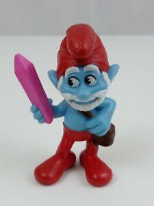 """2013 Peyo McDonald's Toy Smurfs Movie Papa Smurf 3"""" Acton Figure"""