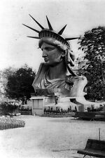 New 5x7 Photo: Head of Statue of Liberty on Display in a Paris Park - 1883