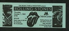 1981 Rolling Stones unused full concert ticket Rockford Metro Centre IL Jagger