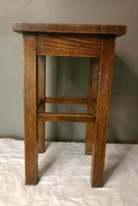"""Antique Mission Oak Plant Stand 