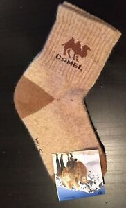 Women's Camel Wool Blend Socks Warm Brown Size S 35-36 NWT Made In Mongolia