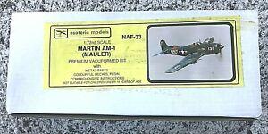 ESOTERIC MODELS 1/72 MARTIN AM-1 (MAULER) - NAF-33 - CONTENTS SEALED