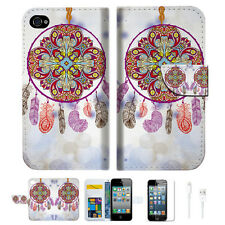 Dream Catcher Wallet Case Cover For Apple iPhone 4 4S -- A016