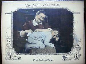 "AGE OF DESIRE Original Lobby Card LC 11X14"" Cinema Film Movie poster 1923 VF+"
