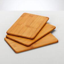 3 piezas TABLILLA Set Bambú la tabla de cortar madera maciza BORDO