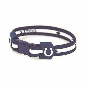 """Indianapolis Colts NFL 8.5"""" Titanium Sport Bracelet"""
