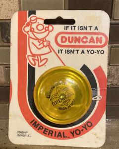 NOS *1986 Duncan Imperial Yo-Yo ~RARE - YELLOW - Made in USA. #3269NP