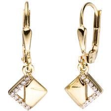 Boutons 333 Gold Gelbgold Teilrhodiniert mit Zirkonia Ohrringe Ohrhänger