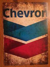 Tin Sign Vintage Chevron Oil Gas Station 2