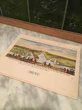 Vintage French Menu from a Cruise Line Voyage