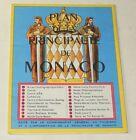 Ancien PLAN de la PRINCIPAUTE de MONACO édité par le COMMISSARIAT Gal TOURISME