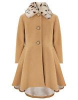Monsoon Beige Pony Fur Harriet Girls Riding Dress Coat Jacket Age 3 to 13 Years