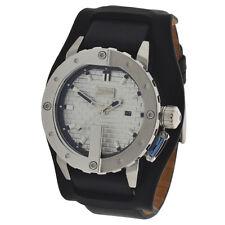 Jean Paul Gaultier Herren Quarz Armbanduhr 8500104 Lederarmband 10ATM UVP199€