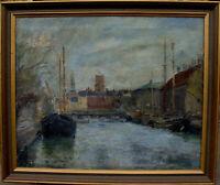 Einer Johansen 1893-1965, Frederiksholms Kanal in Kopenhagen, datiert 1937