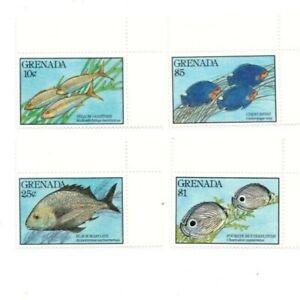 Grenada - 1990 - Fish - Set Of 4 Stamps - MNH