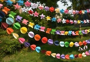 10m Paper Garland Bunting Drop for Party Baby Shower Wedding Birthday Party AUS