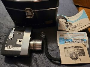 Vintage Bell & Howell Zoomatic Directors Series Movie Camera With Case & Manual