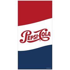 New Pepsi Cola Beach Bath Pool Gift Towel Soda Pop Bottle Can Logo Cotton NIP