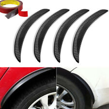 4x25cm Carbon Fiber Car Wheel Eyebrow Protector Decor Arch Trim Flare Fender Lip