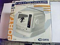 Curtis portable 5 in B&W TV AM/FM in original box RT068