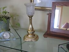 Table mantle or dresser top torchiere lamp 16' Gold finish glass globe uplight