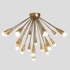 Mid Century Modern Ceiling Lamp Flush Mount Brass Meteors Sputnik Light