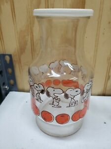 Snoopy Juice Glass Container / 1958 / Excellent