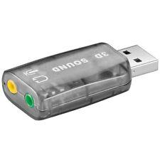 Externe Soundkarte Adapter USB auf 2x Klinke Buchse Kopfhörer Mikrofon Ausgang