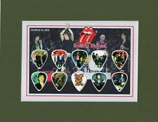 Rolling Stones Matted Picture Guitar Pick Set No Satisfaction Brown Sugar