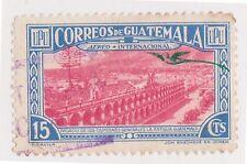 (GMA-77) 1937 Guatemala 15c blue & red