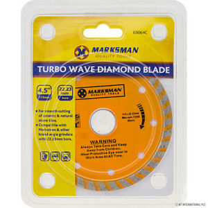 115mm/4.5'' Turbo Wave Diamond Blade Cutting Discs Angle Grinder Blade, Tile.